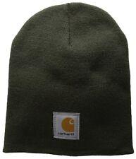 Carhartt Men's A205 Acrylic Rib Knit Hat Winter Beanie Snow Dark Green Olive