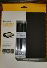 NEW Targus Slim Case & Stylus Grey for Ipad 3rd 4th Generation Magnetic On