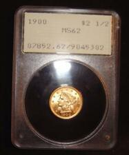 1900 $2 1/2 Liberty Head Gold Coin Quarter Eagle MS62 PCGS Rattler Holder Old