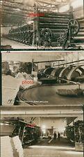 3 Photo Postcards Rppc, Interior, Machinery, Paper Mill Camas,Washington,ca 1914