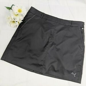 Puma Women's Black Golf Skort w/ Belt Loops Zipper & Slot Pockets Size 14