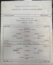 More details for brentford reserves v fulham reserves mid week section 1962/63