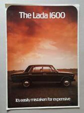 Lada 1600 Leaflet / Brochure Brochure c.1978