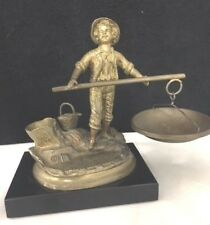 Signed 19th c. Karl Hackstock Bronze Sculpture - Young Boy Fishing