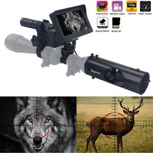 Night Vision Rifle Scope Hunting Sight Infrared 850nm IR HD Camera DVR NEW 2021