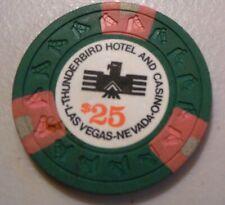 CASINO CHIP  $25 THUNDERBIRD  #N2249 LAS VEGAS NEVADA