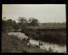 Glass Magic Lantern Slide THE ROTHER RIVER NR CANKLOW ROTHERHAM NO.2 C1910