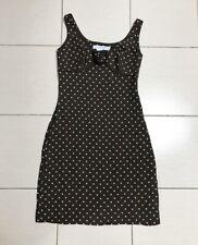 Carolina Herrera Polka Dot Brown Silk Dress