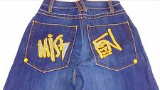 Miskeen Baggy Jeans Boys SZ 10 RUNS BIG 24 x 27 Actual Youth Embroidered Loose