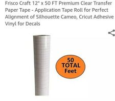 """1 Roll 4/"""" x 300 ft  Application Transfer Tape Vinyl Signs R TAPE  Clear at 65"""