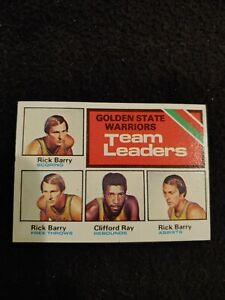 1975 Topps Golden State Warriors team leaders Rick Barry Clifford Ray EX #122