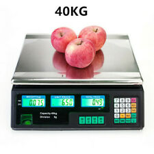 More details for 40kg digital electronic price computing scale veg commercial shop weighing lcd