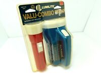 Vintage NOS Lumilite Flashlights Valu-Combo Pack w/ Original Packaging Pair Two