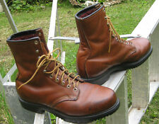 Red Wing Men's Brown Leather Vintage Lace Up Boots work Sz 9.5 D USA