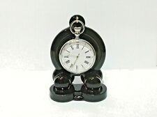Art Deco style BLACK Ceramic, china Pocket watch stand watch display (2 colours)
