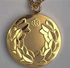 1976 Montreal Olympic 'Gold' Medal with Chain & Display Stand !!!