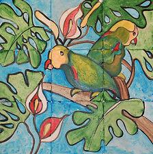 Marble Tile Mosaic Backsplashed Kitchen 18x18  Hand Painted #802