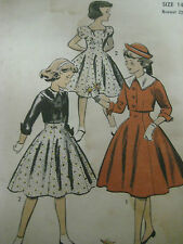 Vintage Advance 7706 Girls SPENCER JACKET & DRESS Sewing Pattern Size 14