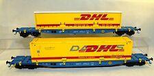 """L.S.Models HO 36062 2-tlg. Set Containertragwagen Sgs DB-NACCO """"DHL"""" Ep.V-VI"""