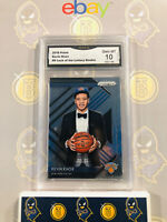 2018-19 Prizm Kevin Knox 9 Luck of the Lottery Rookie 10 GEM MINT GMA Grade Card