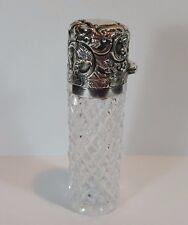 Vidrio de plata antigua victoriana Antique Victorian HM Botella de Perfume Aroma Sales Charles Mayo de 1891