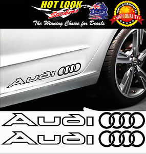 2 x Audi Stickers Decal S line S1 S5 Q5 Q7 TT A4 A5 S A6 R8 QUATTRO 23 Colours