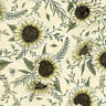 100% Cotton Fabric Timeless Treasures Vintage Sunflowers Bumble Bees