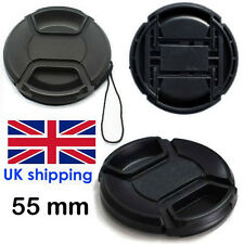 55 mm Lens  Cap Pinch Type Eg Nikon or Canan  Lens  Fit  UK Seller