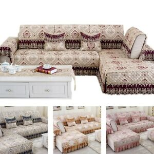 1pc Sofa Cover Luxurious Non-slip Couch Protector Sofa Towel Living Room Decor