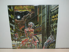 IRON MAIDEN - SOMEWHERE IN TIME (CAPITOL SJ-12524) LP VINYL 1986 US 1ST ISSUE