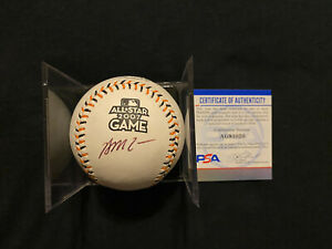 BRIAN MCCANN Autographed Autograph Signed 2007 All Star Baseball BRAVES PSA/DNA