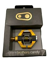 Gold Crank Brothers Candy 11 Gravel MTB Mountain Bike Pedals w/ cleats NEW