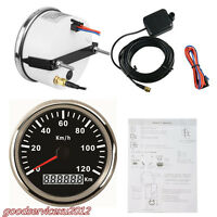 Car SUV Stainless Steel 85mm GPS Digital Speedometer Meter 120KM/H Speed 12/24V