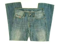 Diesel Womens Size 30 Straight Leg Cut Blue Faded Denim Jeans Made in Italy