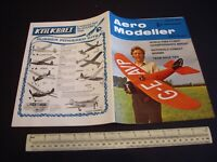 Vintage Aeromodeller Magazine (Oct 1973) Engine Test O.S. Max 25 + Attached Plan