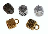 Wholesale 30Pcs End Caps Bead Stopper Fit 6mm Cord DIY Bracelet Jewelry Marking#