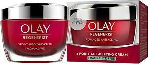 Olay Regenerist 3 Point Firming Anti-Ageing Face Cream Fragrance Free 50ml New