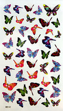 King Horse Multi-Color Butterflies Temporary Tattoos #HM142