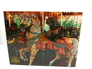 Marry Go Round Horse 550 Pieces Golden Jigsaw Puzzle Sealed Colorful