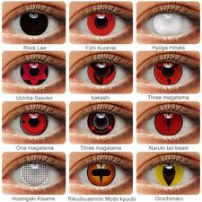 Halloween Sharingan Eyes Naruto Anime Colored Lens Uchiha Madara Cosplay Itachi