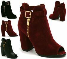 Block Heel Suede Formal Boots for Women