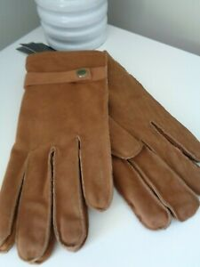 French Connection Tan Suede Leather Gloves  size M/L