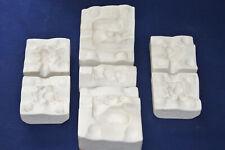 3 Vtg Ceramic Pottery Slip Casting Molds - 1956 Alberta's Squirrels #297 #107