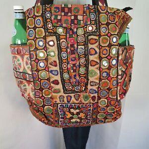 Banjara Bag|Authentic|Gypsy|Tote|Shoulder|Boho|Bottle Pocket|60s|Patchwork Style