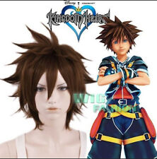 New 2017 KINGDOM HEARTS II Sora Short Brown Heat Resistant Anime Cosplay Wig