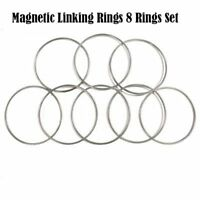 Magnetic Linking Ring 8 Eight Rings Set Large Size Stainless Steel Magic Tricks