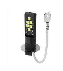 Ampoule H3 LED 12 SMD Blanc Xenon 6500K pour feux anti Brouillard Moto Auto 12V