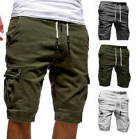 Fashion Mens Casual Jogger Shorts Sports Pants Military Combat Workout Trouser