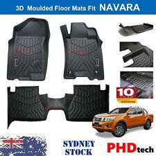 Prime 3D TPE All Weather Floor Mats Liners Fit NISSAN Navara NP300 D23 2015~2020