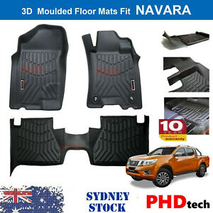 3D All Weather Floor Mats Fit NISSAN Navara NP300 D23 Manual ONLY  2015~2020